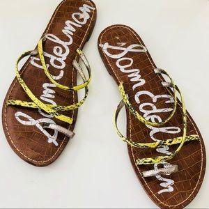 San Edelman Gillian Flat Sandals, Size 9-9.5